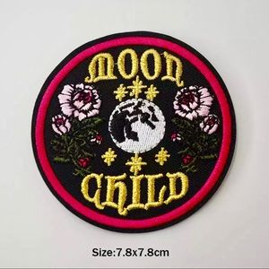 Accessories - Moon Child Floral Iron On Embroidered Patch